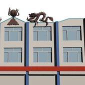 Modern House Dragon Sculpture
