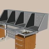 Modern Furniture Metal Reception Desk