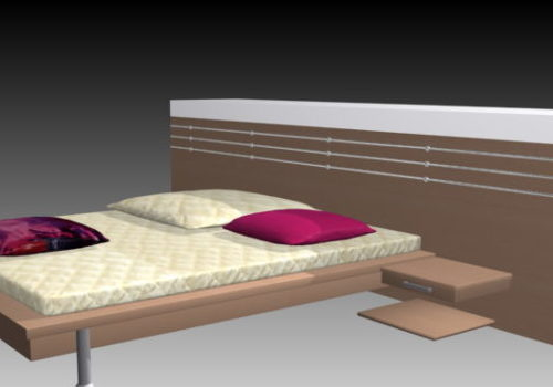 Modern Minimalism Bed With Pillows
