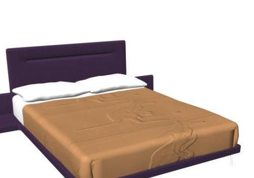 Modern Platform Bed With Bedside Table