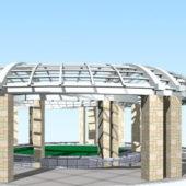 Plaza Pergola Structure System
