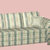 Vintage Modern Striped Sofa