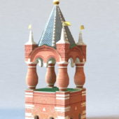 Russian Moscow Kremlin Tower Building