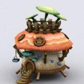 Mushroom Shape Fairy House