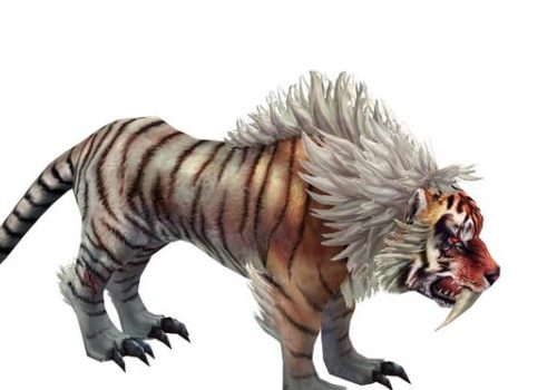Mythical Tiger Game Character