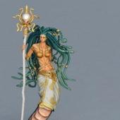Game Character Naga Priestess