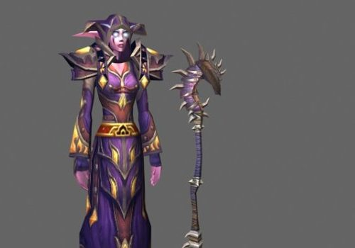 Night Elf Female Game Character