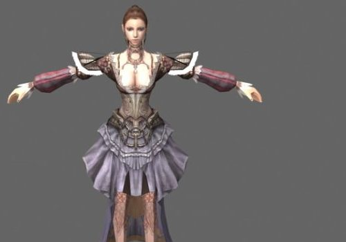 Noble Lady Game Character