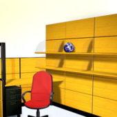 Office Furniture Desk With Bookshelf