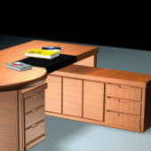 Office Furniture Desk With File Cabinets