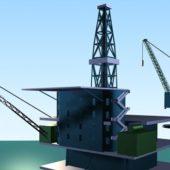 Offshore Oil Platform Building