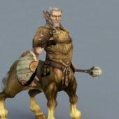 Old Centaur Warrior Game Character
