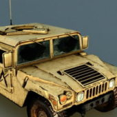 Vehicle Hummer H1 Damaged