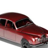 Old Red Jaguar Car