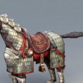 Fantasy One Horned War Horse