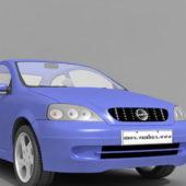Blue Opel Astra Car