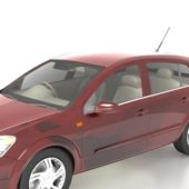 Red Opel Astra Family Car