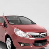Red Opel Mini Car