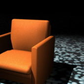 Orange Club Chair Home Furniture
