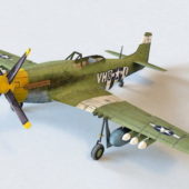 Army P-51 Mustang Fighter