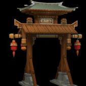 Asian Ancient Gate Pailou