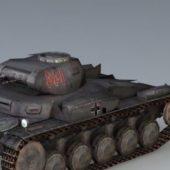 Military German Panzer 2 Tank