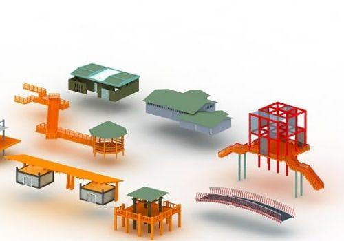 Park Landscape Buildings
