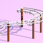 Park Curved Pergola Structure
