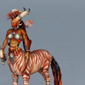 Game Character Female Centaur