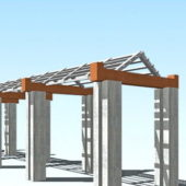 Pergola Walkway Structure