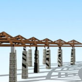 Pergola Walkway Park Landscape