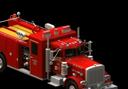 Vehicle Peterbilt Firefighting Truck