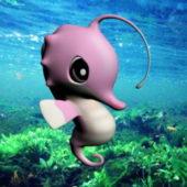 Cartoon Animal Pink Seahorse