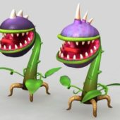 Cartoon Piranha Plants