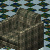 Plaid Club Chair Home Furniture