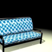Plaid Settee Bench Furniture Design