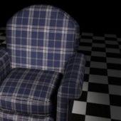 Plaid Sofa Chair Home Furniture