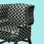 Home Plaid Wing Chair Furniture