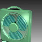 Plastic Box Shape Desk Fan