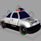 Cartoon Police Car Design