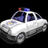Police Car Wagon Cartoon Rig