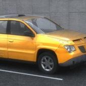Yellow Pontiac Aztek Crossover