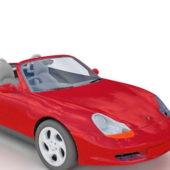 Red Porsche Boxster Roadster Car