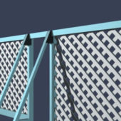 Iron Fence Building Restrict Area