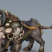 Primitive Lion Mount Game Character