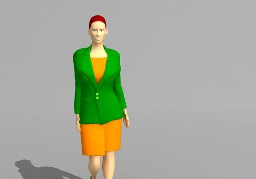 Character Professional Lady Cartoon
