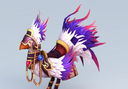 Purple Chocobo Game Character
