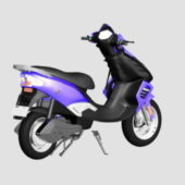 Purple Electric Moped Motorcycle