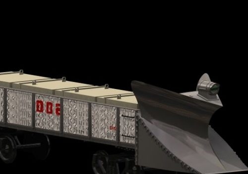 Vehicle Rail Snowplow