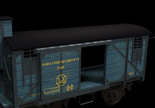 Vehicle Railroad Boxcar V1